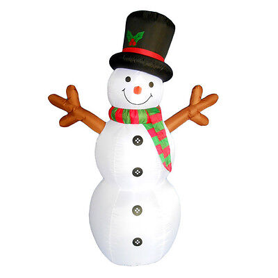 Inflatable Festive Led Snowman Stick Arms Lighted Winter Holiday Yard Display