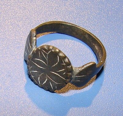 Ancient bronze ring  Middle Ages. Original.