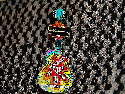 """HOUSE of BLUES Myrtle Beach (SC) """"Peace Guitar"""" Collector Pin   (P254)"""