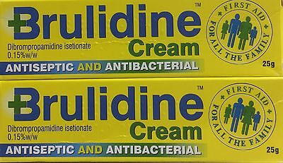 2x Brulidine Cream 25g Antiseptic Antibacterial Cuts, Grazes, Wounds, Burns