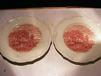 Pair Of The Hay Wain Grindley Plates