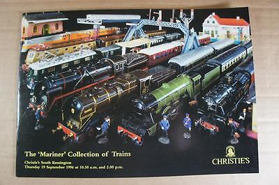 Christie's The Mariner Collection of Hornby & other O gauge railways catalogue