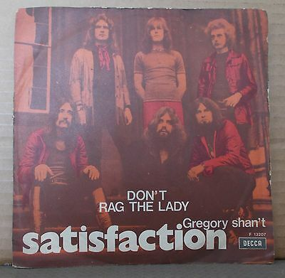 """SATISFACTION - Don't rag the lady / Gregory shan't - 7"""""""