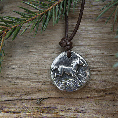 Wild Horsefeathers Pewter Horse Pendant Necklace :: Horse Gift for Equestrians