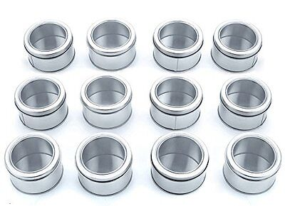 Bekith Clear-Top Spice Tins, Round (12)