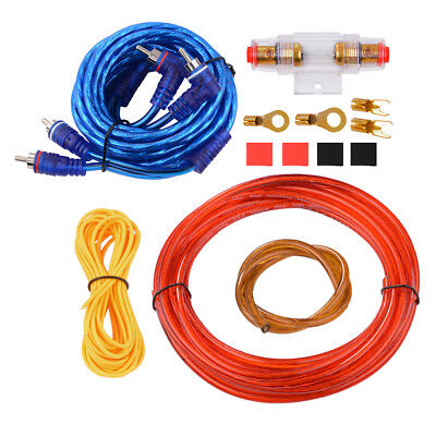 10 Gauge Car Amplifier Wire Wiring Set Car Audio Amp Power Cable Kit Set MA663