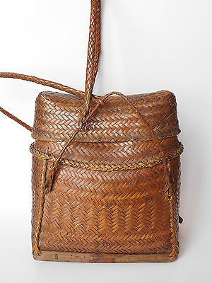 Cordillera vintage Original Filipino woven wicker tribal  Backpack