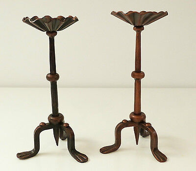 Forged steel candle stick - candle stick - candle holder - pair