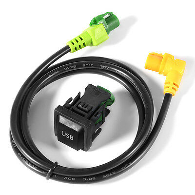 USB Switch + Wire Cable Adapter para VW Golf MK6 Jetta MK5 RCD510 RNS315 AC519