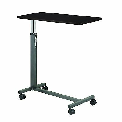 Overbed Table Adjustable Drive Medical Laptop Food Tray Rolling Table Hospital