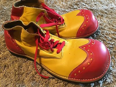 Professional Vintage Used Clown Shoes Leather Wingtips Spears Specialty Shoes