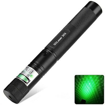 EXTREM LASER POINTER SD303 GRÜN 2in1 STARCAP LASERPOINTER FOKUS DE POST KM