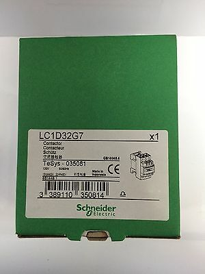 Schneider Electric, Lc1D32G7 Contactor, 120Vac Coil, 3-Pole, Brand New!