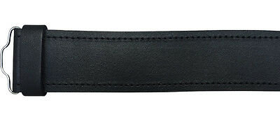 Scottish Highland Black Plain, Leather Kilt Belts