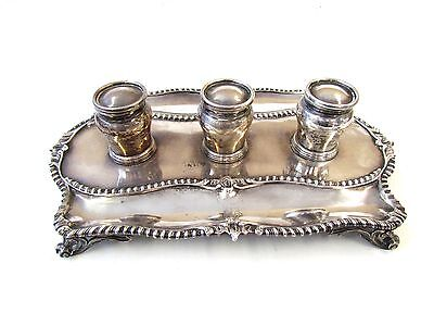 Antique - George II Sterling Silver Desk Set tray, by William Grundy