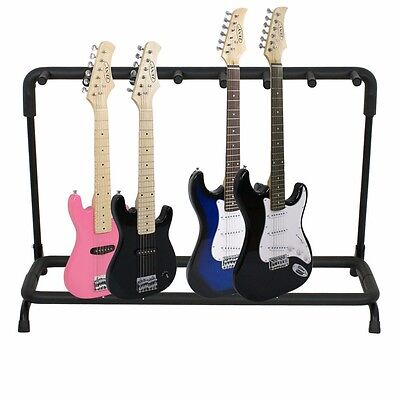 Guitar Stand 7 Holder Guitar Folding Stand Rack Band Stage Bass Acoustic Guitar.