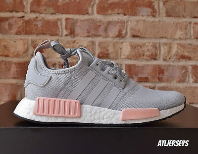 women's adidas nmd r1 gray and pink