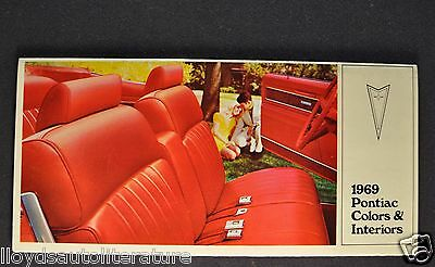 1969 Pontiac Colors-Interior Brochure Firebird GTO Tempest Grand Prix Bonneville
