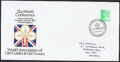 1975 World Assoc Guides & Scouts pictorial cancel on commemorative cover TS566