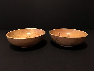 Vintage pair of Wooden Serving Bowls Made in Japan