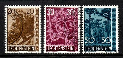 Liechtenstein 1960 Trees and Bushes   SG.401/403   Used set of 3
