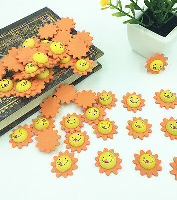 Free Mixed Wood Scrapbooking exquisite 3D Sunflower smiley clipboard 24x8.5mm
