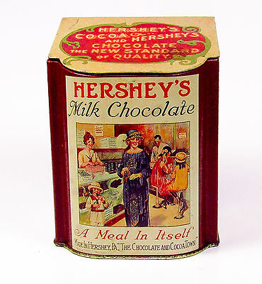 Hershey's Chocolate Metal In Its Self Tin Brown Textured