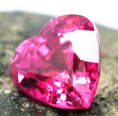 12.75ct Rose Red Sapphire Unheated 15mm Heart Shape VVS Top AAAA+ Gemstone
