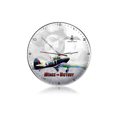 Wings for Victory Wall Clock - Hand Made in the USA with American Steel