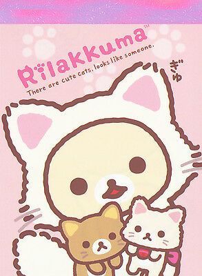 "San-X Rilakkuma ""Cat"" Mini Memo (#3)"