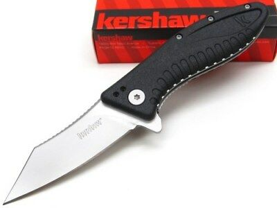 KERSHAW Black GRINDER Assisted Straight Folding Pocket Knife 1319 New!
