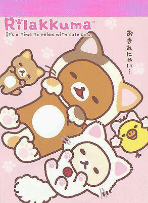 "San-X Rilakkuma ""Cat"" Mini Memo (#1)"