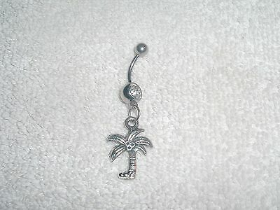 Coconut Palm Tree Charm Belly Button Navel Ring Body Jewelry Tropical Warm