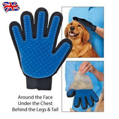 True Touch Deshedding Glove Gentle And Efficient Pet Dog Cat Animal Grooming UK