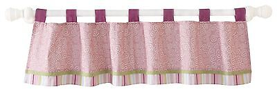 New Lambs & Ivy Lollipop Jungle Window Valance Pink Baby Nursery Room Treatment