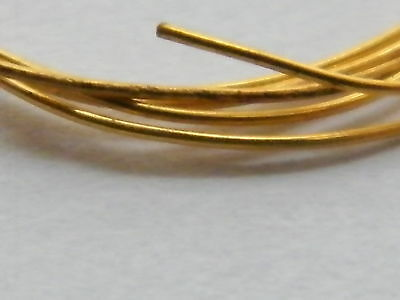 18ct Yellow Gold Solid Round Wire 0.30mm x 100mm-Jewellery Making 28-Gauge-18K