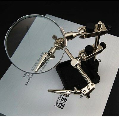 1Set Combination Soldering Magnifying Glass With Clamps For Solder Repair Tool