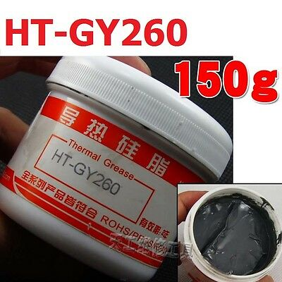 1Bottle HT-GY260 Silver Compound Thermal Conductive Grease Paste Heatsink 150G
