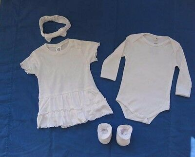 Clothing Blanks Children Onesies Booties Headbands 76-pc Lot 100% Cotton Dyeable