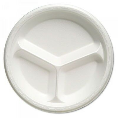 Celebrity 10-1/4in Three Compartment Foam Plate, 500 Plates (GNP 81300)