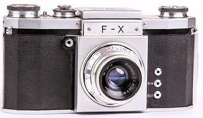 Camera Praktica F-X Export  Lens Wilt Wetzlar Rekagon 2.8/50mm Red V