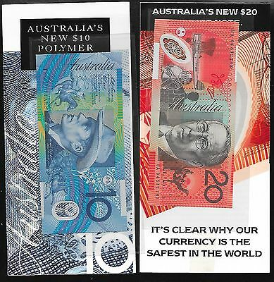 Australia  Vintage Collectible Rare 1994  10 & 20 Dollars w/ original Booklets