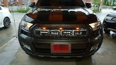 Front Grille Grill With LED Ford Ranger Wildtrak Facelift MK2 PX2 2015 2016 2017