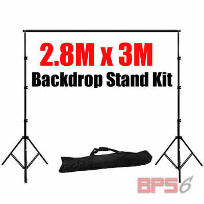 2.8x3M Photography Screen Background Support Stand Kit for Muslin Vinyl Backdrop