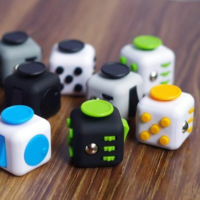 6 side Fidget Cube Toy Stress Anxiety Relief Attention Focus Adult Kids Gift