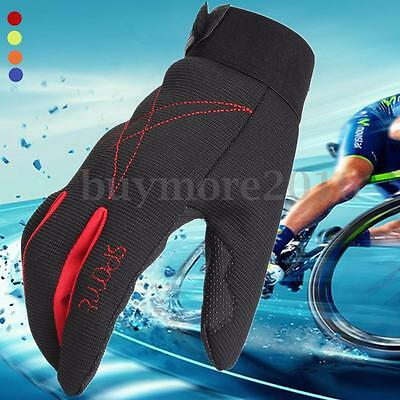 1 Pair Breathable Cycling Bicycle Bike Full Finger Anti-Slip Sport Gloves AU