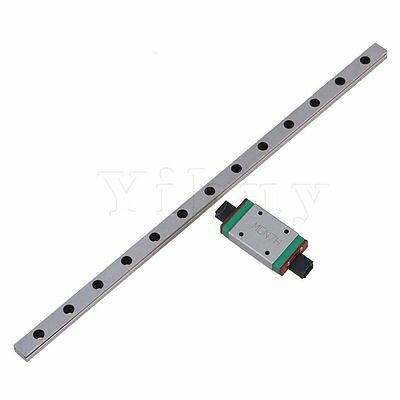 Silver 200x7x4.8mm MGN7 Linear Guide Bearing Slide Rails with Sliding Block Set