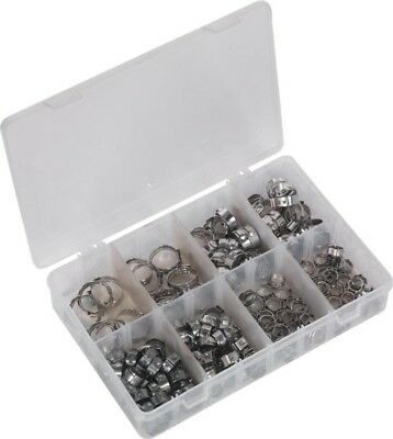 Sealey Single Ear O-Clips Assortment & Box Stainless Steel | 160 Piece