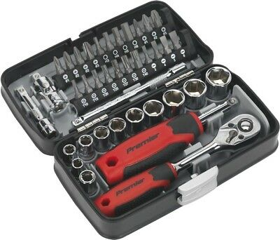 "Sealey Hex Socket Bit Set & Ratchet Wrench 30 Piece | 1/2""Sq Drive"