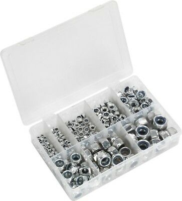 Sealey Nylon Lock Nut Assortment & Box M4-M16 DIN 985 | 255 Piece